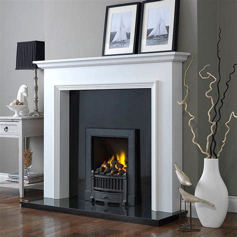 woodcraft broadway  white fireplace suite electric