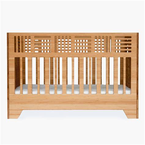 modern crib io crib modern solid bamboo crib kalon studios us