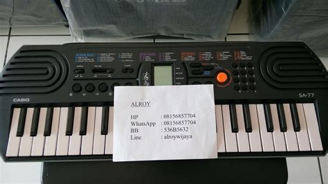 Casio Keyboard Mini Sa 77 jual mini keyboard casio sa 77 alroy