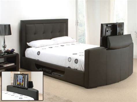 Bed Frame With Tv In Footboard tv bed favething