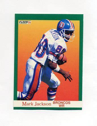 mark jackson denver broncos 1991 fleer football 048 mark jackson denver broncos