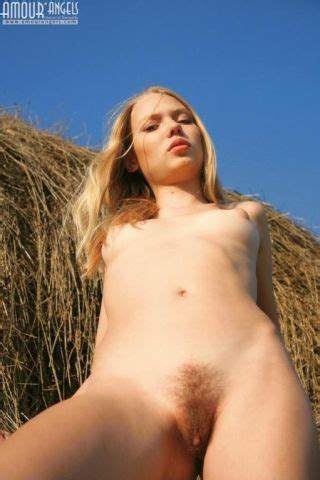 Tiny Titted Barely Legal Blonde Shows Hairy Pussy Pichunter