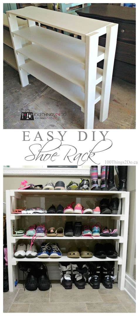 Shoes Rak Diy diy shoe rack diy shoe rack shoe rack and easy