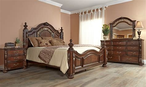 fairfax home furnishings verona poster bedroom set in warm
