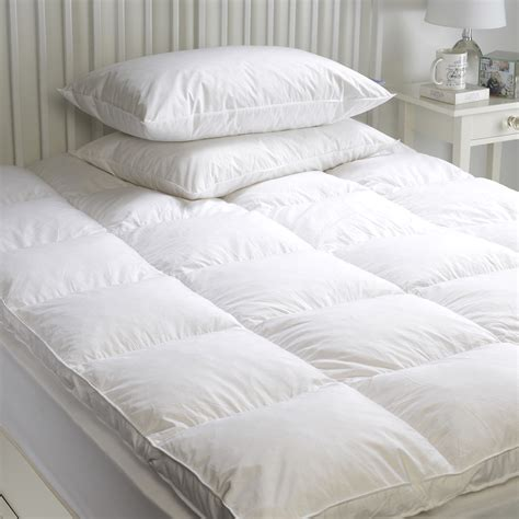 feather bed cover goose feather down mattress topper enhancer cover