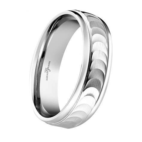 Wedding Ring Eclipse by Mens Palladium 6mm Eclipse Wedding Ring