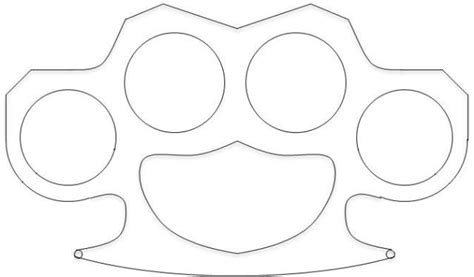 brass knuckles template brass knuckles template knuckle duster template