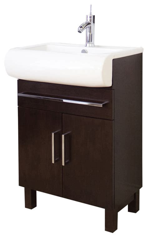 24 X 18 Vanity by 24 In W X 18 In D Birch Wood Veneer Vanity Set In Walnut