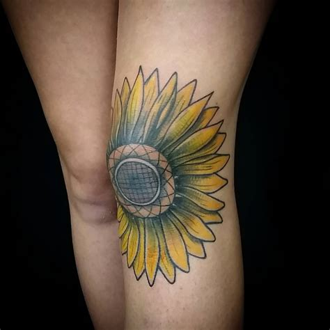 sunflower tattoos 45 bright photos of sunflower tattoos