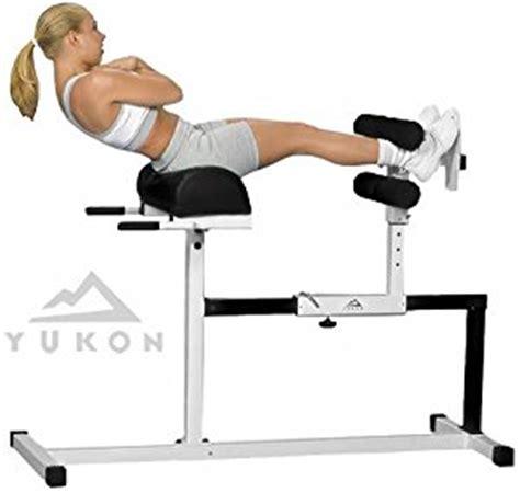 yukon hyperextension bench amazon com yukon glute hamstring back and abs