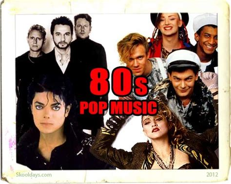 music in 80s pop music in the 80s