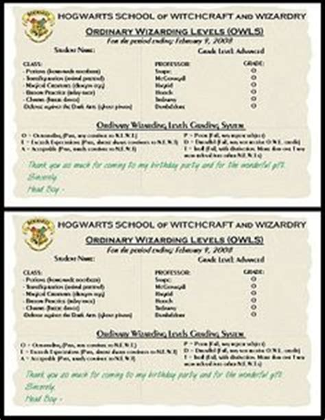 harry potter report card template harry potter hogwarts certificate diploma report card
