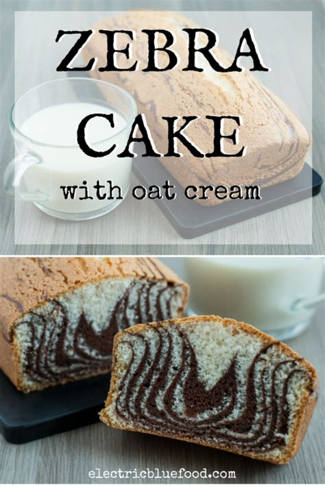 zebra pattern cake recipe oat cream based zebra cake electric blue food