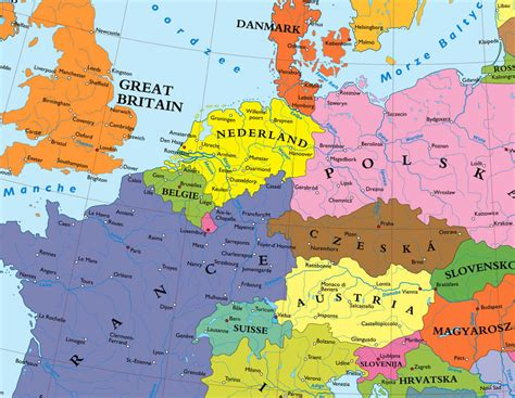 germany denmark map denmark germany map