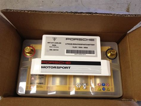 Porsche 924 Battery by Porsche Motorsport Lithium Ion Lightweight Battery