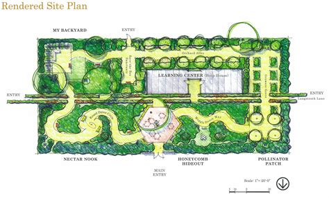 master plan landscape design and botanical gardens on