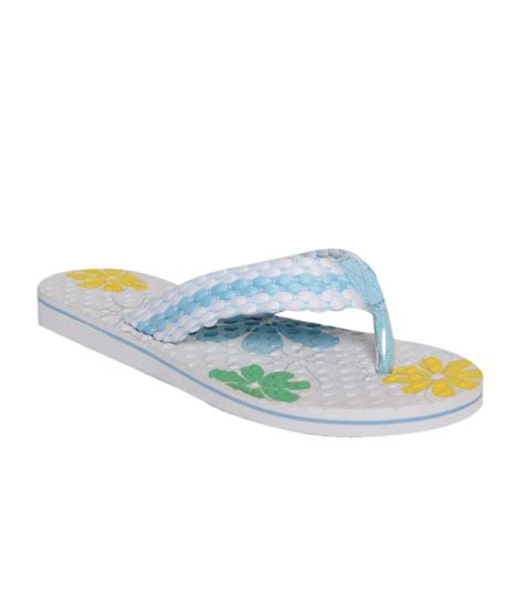 girly slippers girly casual sky blue white slippers price in india buy