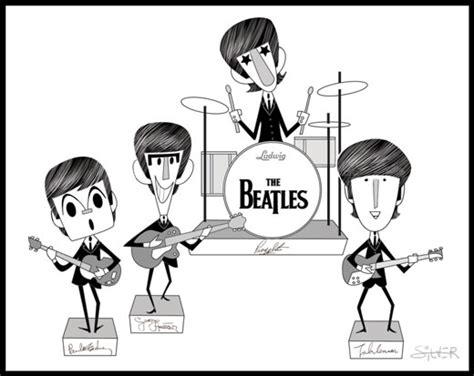 imagenes en blanco y negro de los beatles the beatles dibujos caricaturas taringa