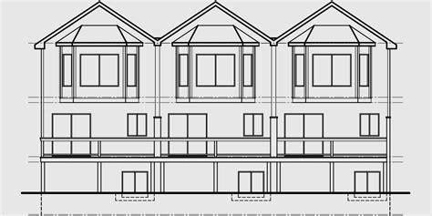 triplex house plans townhouse with 2 car garage triplex house plans townhouse plans 2 bedrm triplex