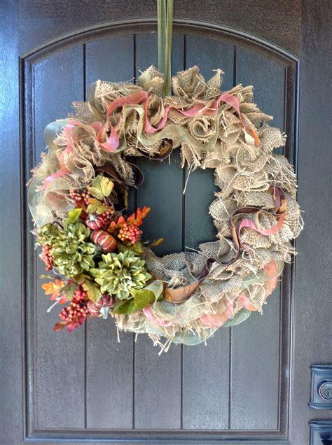 wreath     front door  added  pumpkins