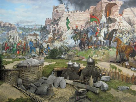 ottoman turks constantinople mural the fall of constantinople stamboulczar flickr