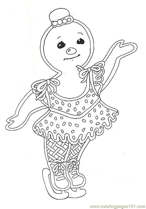 coloring pages gf mural gingerbread girl cartoons
