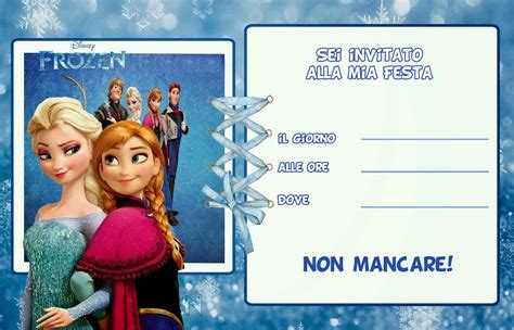 template undangan frozen inviti di compleanno per bambini da stare gratis