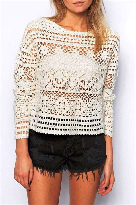 crochet sweater crochet pullover pattern crochet crop top pattern