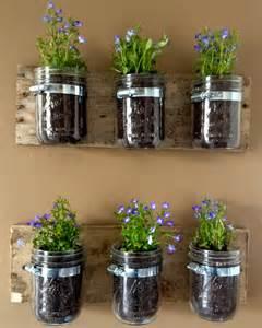 jar wall hanger planter