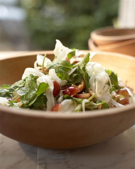 tyler florence salad arugula fennel and grape salad with cashews city
