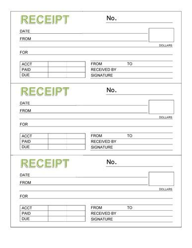 Credit Card Transaction Receipt Template 8 Payment Receipt Templates Word Excel Pdf Formats