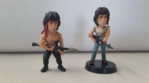 this looks exactly like rambo when we cut his hair and win one of twenty adorable rambo figurines nag