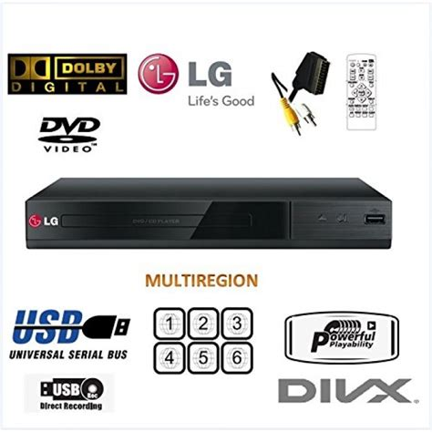 lg dvd player usb format buy lg dvd player dp132 multi region free dvd player
