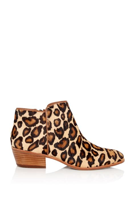 sam edelman shoes sam edelman petty leopard low heel boots in animal