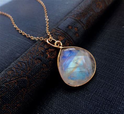 moonstone jewelry large moonstone pendant necklace by