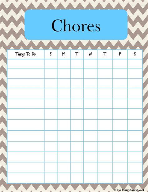 printable toddler chore list more pretty chevron printable kid s chore charts kid