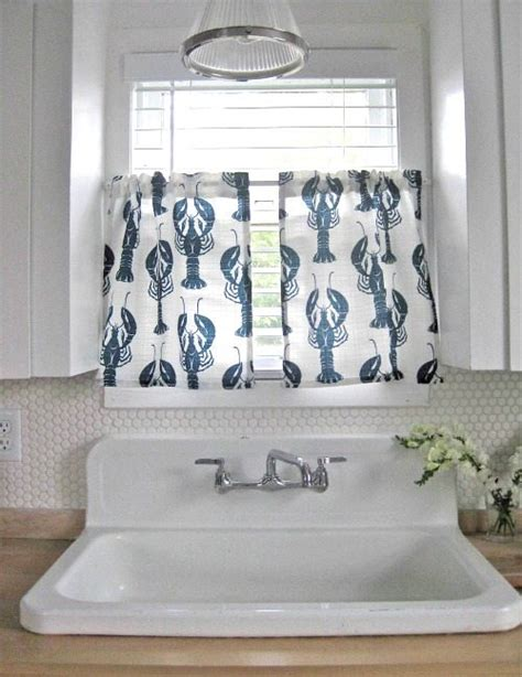 lighthouse kitchen curtains nautical kitchen curtains nautical valances htons