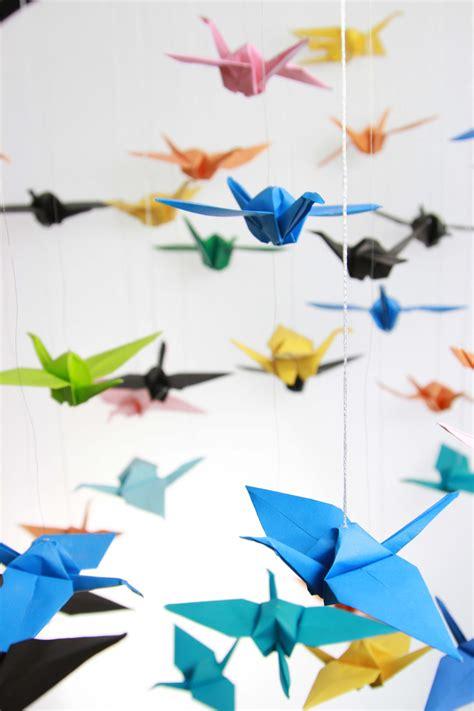 Origami Installation - ib diploma origami birds installation scarborough