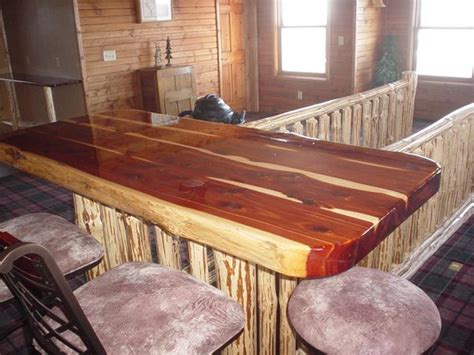 log bar tops k and a log furniture red cedar bar top bars pinterest