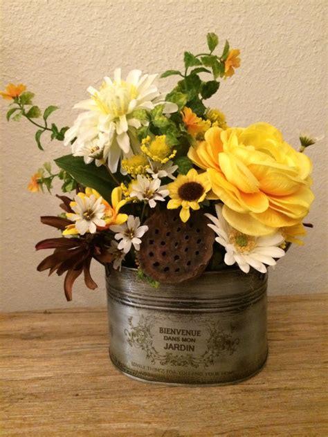 rustic floral centerpieces rustic floral arrangement summer silk floral centerpiece
