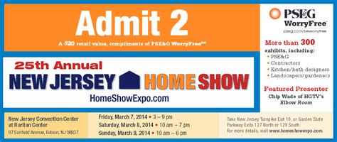 free tickets to new jersey home show interior design