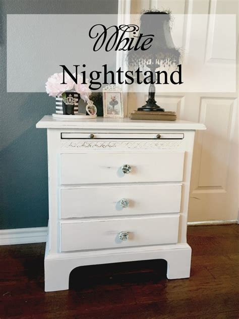 White Nightstand by White Nightstand Patina And Paint