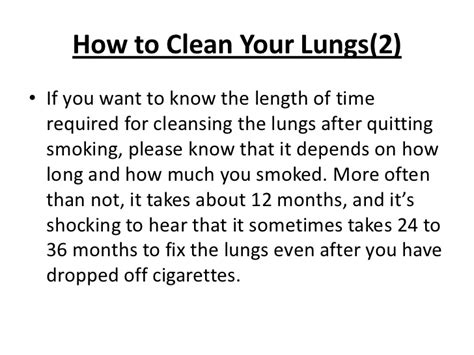 How To Detox Your From Nicotine Fast by Do Lungs Heal After Quitting
