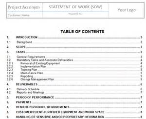 Procurement Statement Of Work Template by Plan Procurements Templates Project Management Templates