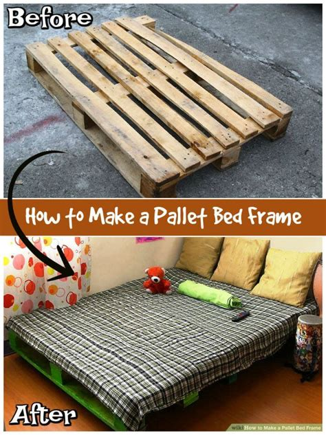 how to make bed frame 11 pallet bed ideas step by step pallet bed frame