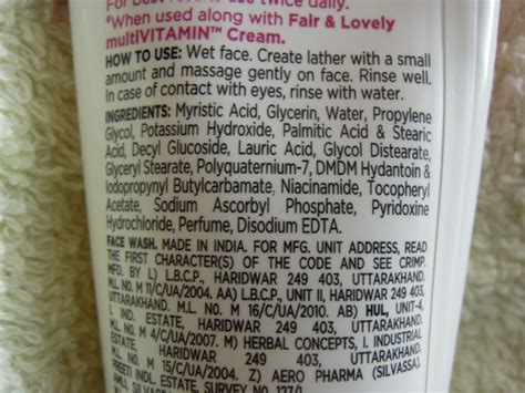 Serum Fair And Lovely fair and lovely multi vitamin wash review