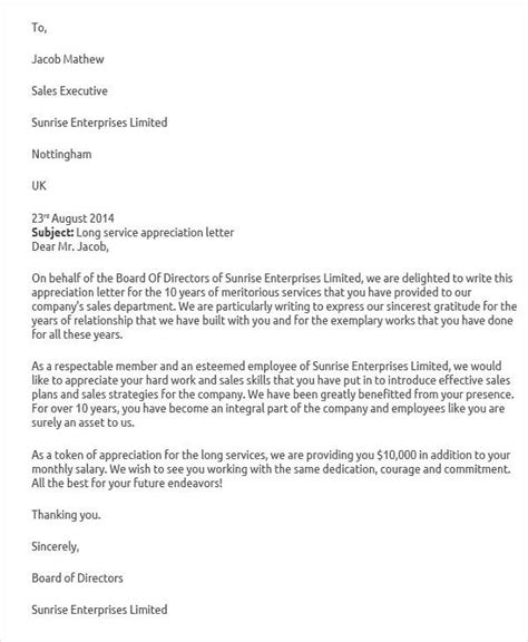 sample service letter templates ms word