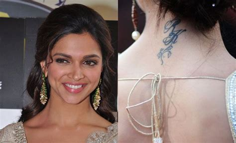 deepika padukone tattoo deepika padukone s says rk the initials of ex