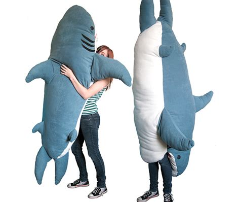 sleep inside a 7 foot giant shark lost in a supermarket