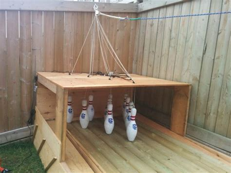 diy backyard bowling alley build your own backyard bowling alley make
